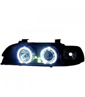 FAROIS ANGEL EYES CCFL / BMW E39 / 95-00 FUNDO PRETO