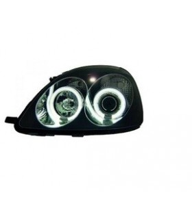 FAROIS ANGEL EYES CCFL / TOYOTA YARIS / 98-05 FUNDO PRETO
