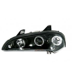 FAROIS ANGEL EYES OPEL TIGRA 94-00. FUNDO PRETO