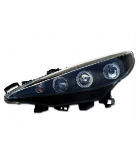 FAROIS ANGEL EYES / PEUGEOT 207 / 06-09 FUNDO PRETO
