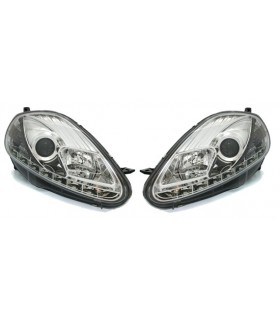 FAROIS LUZ DIURNA( REAL DAY LIGHT) FIAT GRANDE PUNTO / FUNDO CROMADO