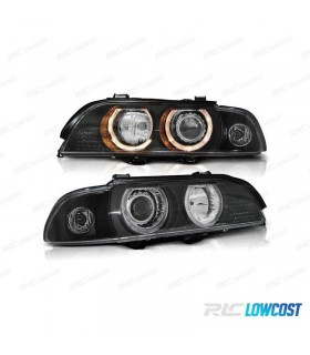 FAROIS ANGEL EYES XENON / BMW SERIE 5 E39 / 95-00 FUNDO PRETO