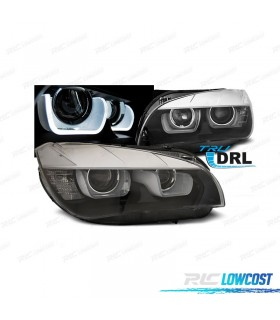 FAROIS FRONTAL BMW X1 09-12 XENON LED 3D FUNDO PRETO*REVISADO*
