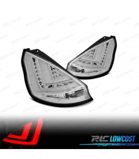 FAROLINS TRASEIROS FORD FIESTA MK7 08-12 LIGHT BAR FUNDO CROMADO*REVISADO*