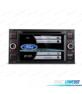 "RADIO NAVEGADOR 7"" FORD CUADRADA COLOR NEGRO USB GPS TACTIL HD*NUEVO*"