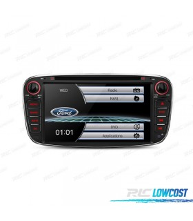 "RADIO NAVEGADOR 7"" FORD REDONDA COLOR NEGRO USB GPS TACTIL HD*NUEVO*"