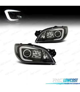 FAROIS FRONTAIS SUBARU IMPREZA 05-08 TUBE LIGHT FUNDO PRETO*REVISADO*