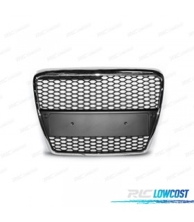 PARRILLA AUDI A6 4F 04-08 LOOK RS6 COLOR PLATA*REVISADO*
