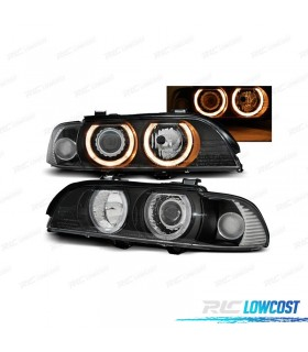 FAROIS XENON D2S ANGEL EYES / BMW E39 / 00-03 FUNDO PRETO