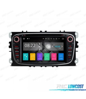 "RADIO NAVEGADOR ANDROID 5.1 7"" FORD REDONDA COLOR NEGRO USB GPS TACTIL HD"