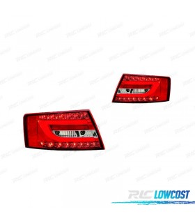 PILOTOS LED PARA AUDI A6 04-08 ROJO BLANCO LIGHT BAR