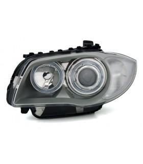 FAROIS ANGEL EYES BMW SERIE 1 E87 04-06 CINZA/CROMADO