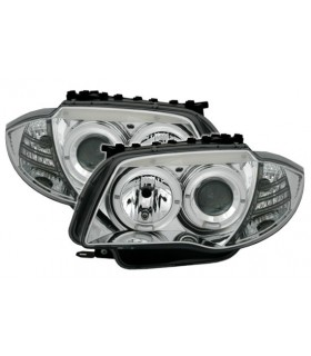 FAROIS ANGEL EYES BMW SERIE 1 E81 04-06 CROMADOS