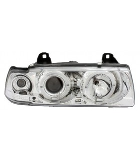 FAROIS ANGEL EYES BMW SERIE 3 E36 COUPE +CABRIO 92-99 CROMADO