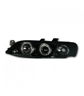 FAROIS ANGEL EYES / OPEL VECTRA B / 99-02 FUNDO PRETO