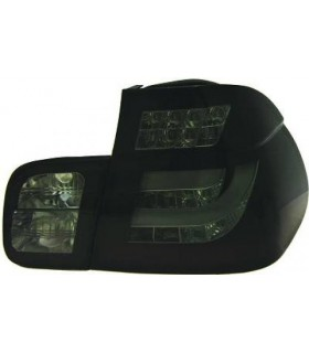 FAROLINS TRASEIROS LED / BMW E46 SEDAN / 01-05 PRETO ESCURECIDO