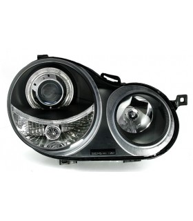 FAROIS ANGEL EYES PARA VW POLO 9N,01-05. FUNDO PRETO