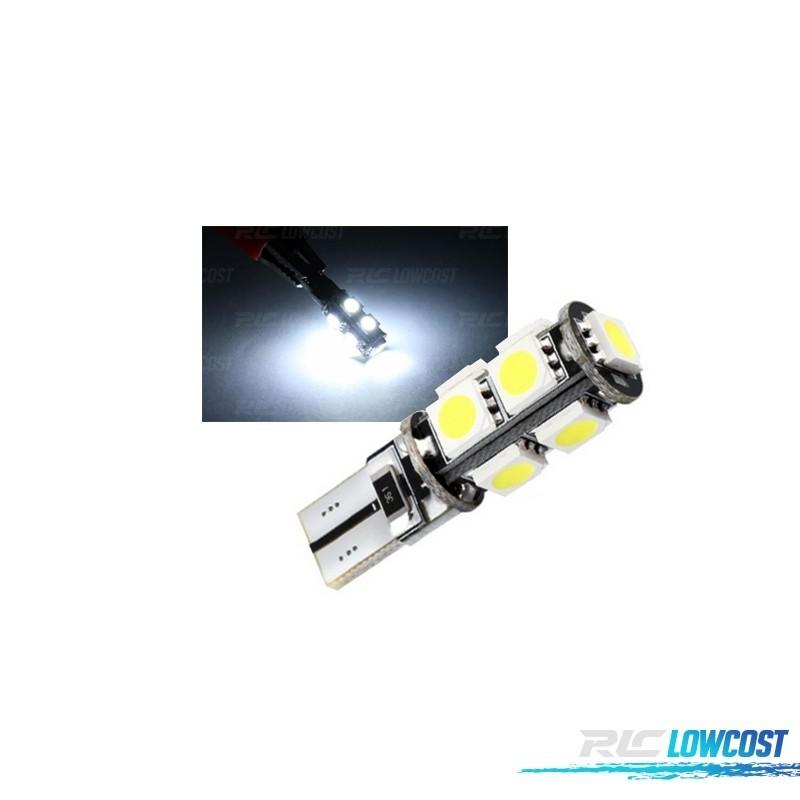 LAMPADA LED T10 MINIMOS CANBUS 9 LEDS SMD