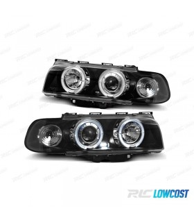 FARÓIS ANGEL EYES / BMW E38 / 94-98 / FUNDO PRETO