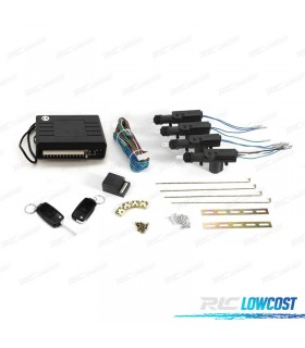 KIT FECHO CENTRAL REMOTO CHAVE RETRACTIL COM MOTORES