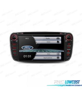 """AUTO RADIO 2DIN 7"""" FORD REDONDO COR PRETO USB GPS TACTIL HD"""