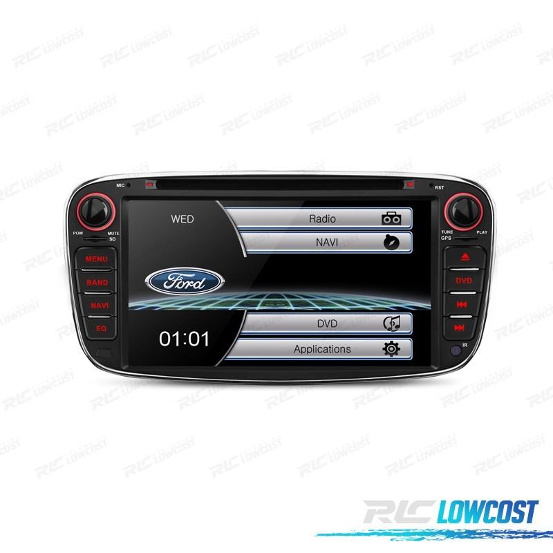 "RADIO NAVEGADOR 7"" FORD REDONDA COLOR NEGRO USB GPS TACTIL HD*NUEVO*"