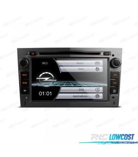 "AUTO RADIO 2DIN 7"" OPEL COR CINZA ESCURO USB GPS TACTIL HD"