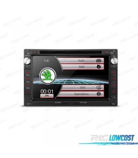 "RADIO NAVEGADOR 7"" SKODA OCTAVIA / SUPERB USB GPS TACTIL HD"