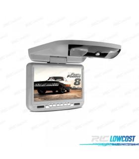 PANTALLA DE TECHO 9 PULGADAS HD USB SD DVD COLOR GRIS*NUEVO*