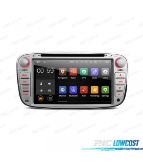 "AUTO RADIO 2DIN ANDROID 5.1 7"" FORD REDONDA COR CINZA USB GPS TACTIL HD"