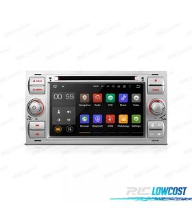 "AUTO RADIO 2DIN ANDROID 5.1 7"" FORD QUADRADO COR CINZA CLARO USB GPS TACTIL HD"