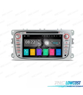 "AUTO RADIO 2DIN ANDROID 7.1 7"" FORD REDONDA COR CINZA USB GPS TACTIL HD"