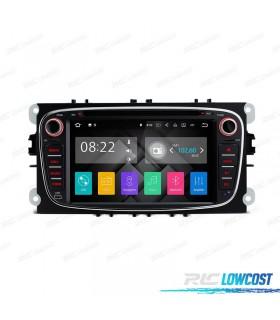 "AUTO RADIO 2DIN ANDROID 7.1 7"" FORD REDONDA COR PRETO USB GPS TACTIL HD"