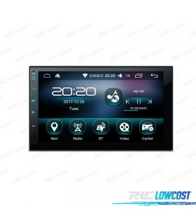 "RADIO NAVEGADOR 2DIN GPS 7"" HD TÁCTIL BLUETOOTH USB SD"