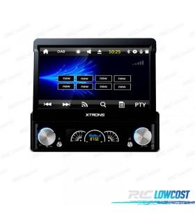"""RADIO NAVEGADOR 1DIN MOTORIZADA GPS 7"""" HD TÁCTIL BLUETOOTH USB SD"""