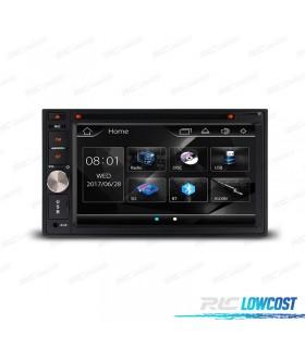 """RADIO 2DIN CON PANTALLA DE 6,2"""" HD TÁCTIL BLUETOOTH USB SD CAMARA GRATIS"""