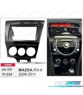 MOLDURA / ADAPTADOR PRETO BRILHANTE PARA RADIO 2-DIN MAZDA RX-8 08-11