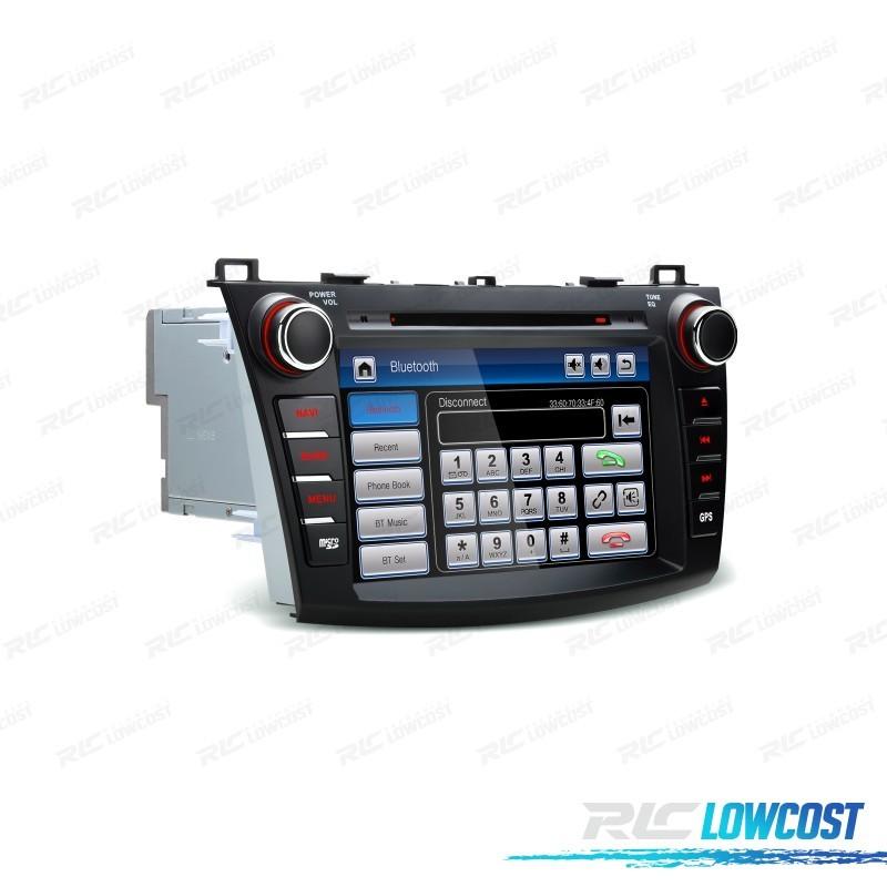 """AUTO RADIO DVD GPS ECRA TÁCTIL 8"""" PARA MAZDA 3 CON CANBUS Y MANDOS DE VOLANTE"""