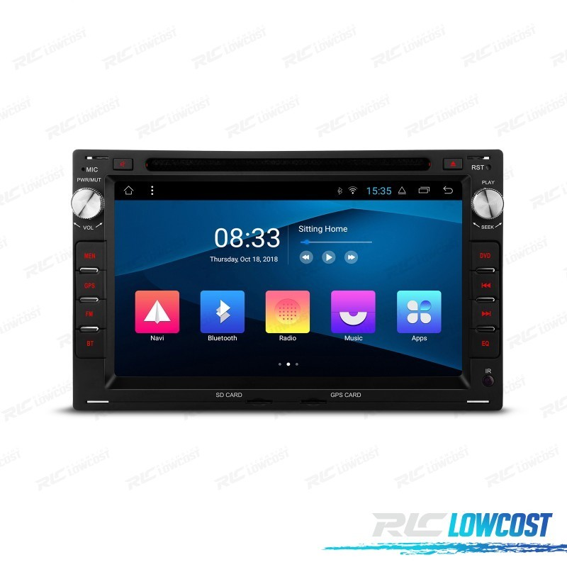 AUTO RADIO GPS LCD TÁCTIL 7' PARA SKODA VW SEAT ANDROID 8.1 CANBUS BLUETOOTH