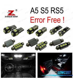 Kit completo de 14 lâmpadas led interior para para Audi A5 S5 RS5 B8 (08-15)