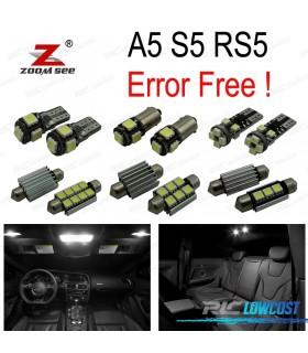 Kit completo de 16 lâmpadas LED interior para Audi A5 S5 RS5 B8 (2008-2015)