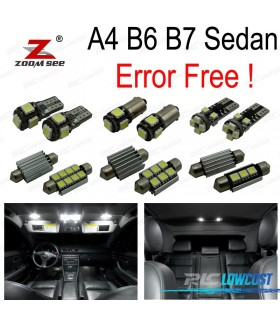 Kit completo de 20 lâmpadas LED interior para Audi A4 S4 RS4 B6 B7 Sedan saloon sólo (2002-2008)