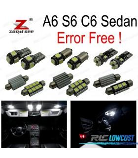 Kit completo de 11 lâmpadas LED interior para Audi A6 S6 rs6 C6 Sedan (2005-2011)