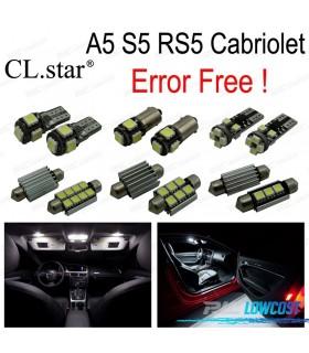 Kit completo de 10 lâmpadas LED interior para Audi A5 S5 RS5 convertible cabriolet (2009-2015)