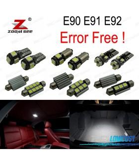 Kit completo de 9 lâmpadas LED interior para BMW Serie 3 E90 E91 E92 (2006-2011)