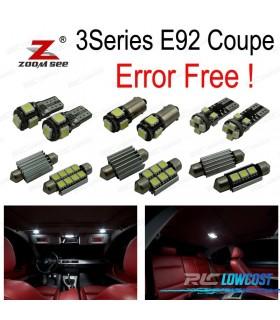 Kit completo de 21 lâmpadas LED interior para bmw Serie 3 E92 coupe 325i 330xi 335d 335i 335i xDrive (06-13)