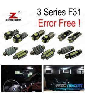 Kit completo de 13 lâmpadas LED interior para BMW Serie 3 F31 Wagon Touring 318i 320i 328i 330i 335d 335i 340i xDrive 2012 +