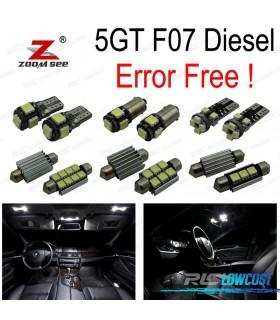 Kit completo de 26 lâmpadas LED interior para BMW serie 5 F07 5GT Diesel 520d 530d 535d GT 535d xDrive (2009-2017)