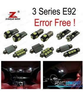 Kit completo de 21 lâmpadas LED interior para BMW Serie 3 E92 Coupe M GTS 316i 318i 320d 320d xDrive 320i 320xd 323i (2006-2013)