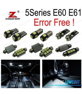 Kit completo de 18 lâmpadas LED interior para bmw E60 E61 M5 520i 523i 530i xDrive 520d 525d 535d 530d sedán Touring (2003-2010)